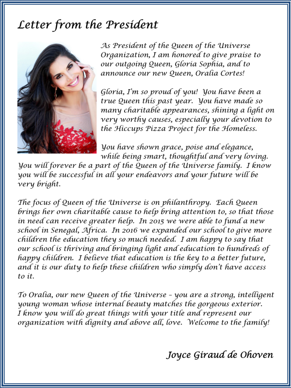 Sponsorship Letter For Pageant from queenuniversepageant.com